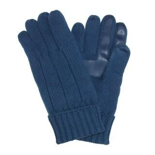 Isotoner Men's SmartDri Knit Smartouch Winter Glove (Option: Bright Navy)