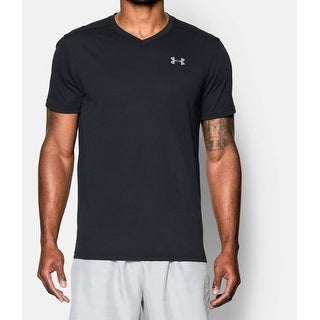 Under Armour NEW Black Mens Size XL V-Neckl Shirt Athletic Apparel