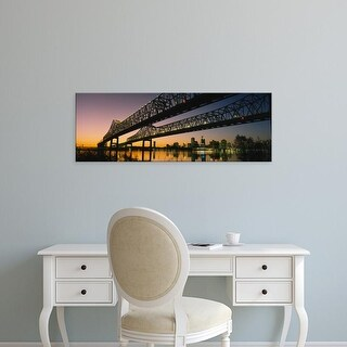 Easy Art Prints Panoramic Images's 'Low angle view of a bridge across a river, New Orleans, Louisiana, USA' Canvas Art