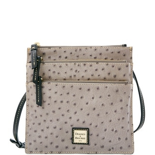Dooney & Bourke Ostrich North South Triple Zip (Introduced by Dooney & Bourke at $178 in Mar 2016) - Grey
