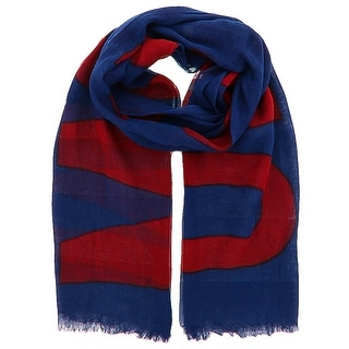Moschino SCR11235/9 Blue/Red Signature Scarf