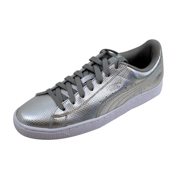 3a52a80f1cdc35 Shop Puma Men s Basket Classic Holographic Puma Silver 362860 02 ...