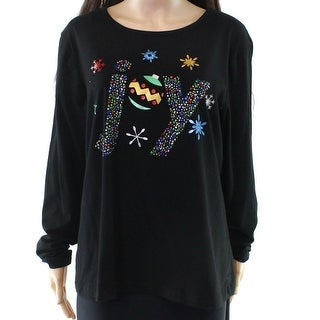 Womens Sequin Deer Xmas T-Shirt Simply Be