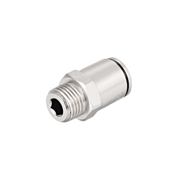 10mm Tube to 1/4 NPT Push Lock Fitting,Brass Nickel Plated Quick Tube Fittings