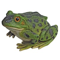 Design Toscano Ribbit the Frog, Garden Toad Statue