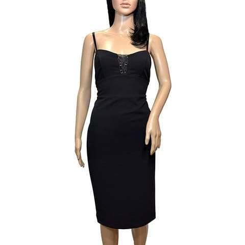 Bebe Black Illusions Cut Out Up Sheath Dress