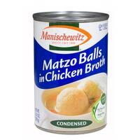Manischewitz Soup Clear Chicken with Matzo Balls - Case of 12 - 10.5 oz.