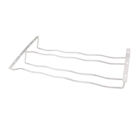 Bars 304 Stainless Steel 2 Rows Cup Wine Glass Rack Holder 44cm x 22.5cm x 5cm