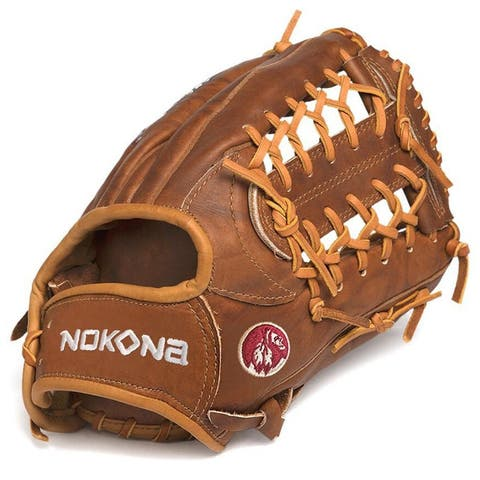 Nokona W-1150/R Walnut 11.5-inch Baseball Glove with Modified Trap for Left Handed Thrower