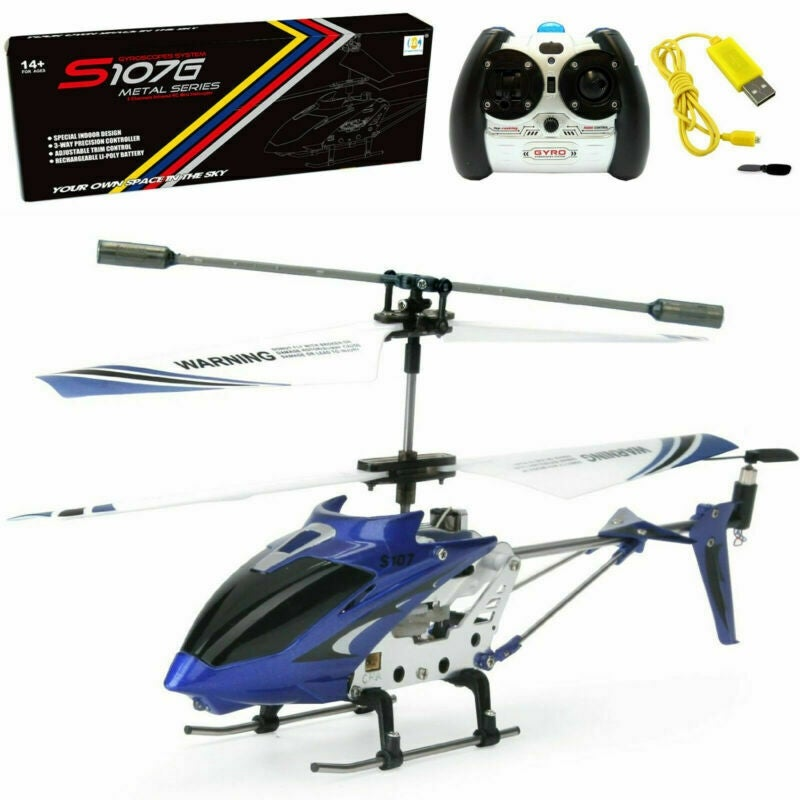 Shop Syma S107g 3ch 3 5ch Mini Metal Rc Helicopter Remote Control Vehicle Blue Overstock 28254845