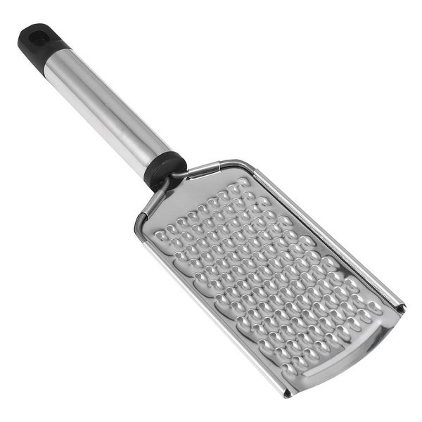 """Stainless Steel Cheese Chocolate Grater Lemon Flat Vegetable Grater for Kitchen - 9.3"""" x 2.4"""""""