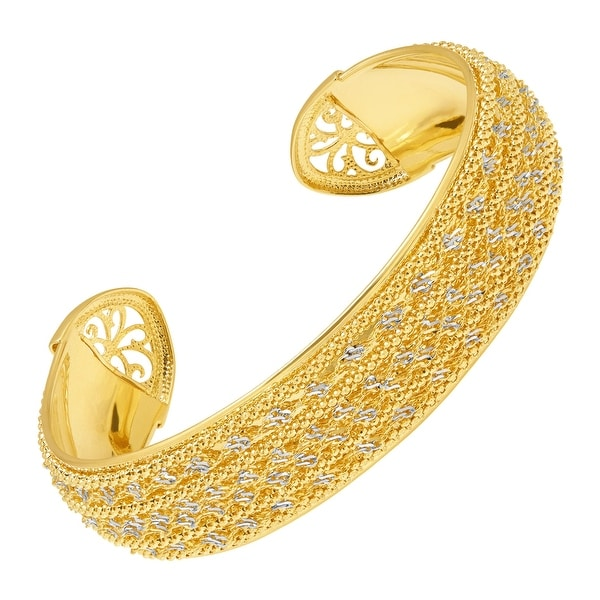 Just Gold Multi-Chain Cuff Bracelet in 14K Gold - Yellow