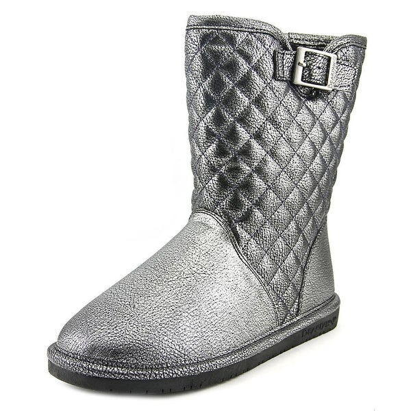Bearpaw Leigh Anne Women Round Toe Synthetic Silver Winter Boot