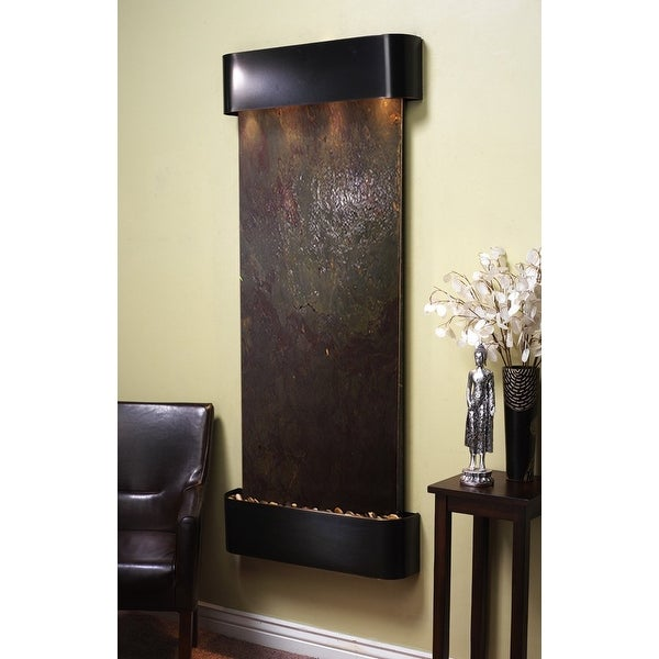 Adagio Inspiration Falls Fountain w/ Rajah Featherstone in Blackened Copper Fini