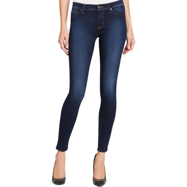 Hudson Womens Nico Skinny Jeans Modal Blend Mid-Rise