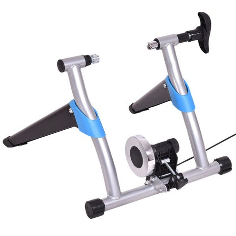 Costway Exercise Bicycle Trainer Stand Stationary Indoor 8 Levels Magnetic Resistance