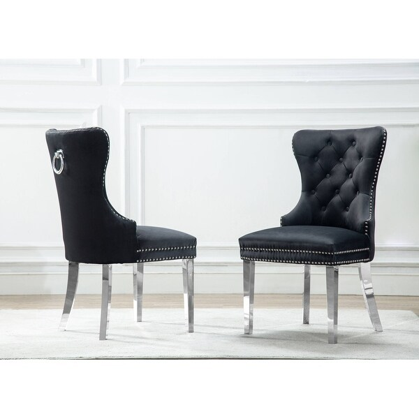 Best Quality Furniture Button Tufted Dining Chair. Opens flyout.