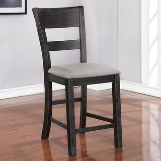 Link to Furniture of America Caza Rustic Black Counter Height Chairs (Set of 2) Similar Items in Dining Room & Bar Furniture