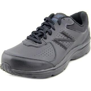 New Balance MW411 Men 4E Round Toe Leather Black Walking Shoe