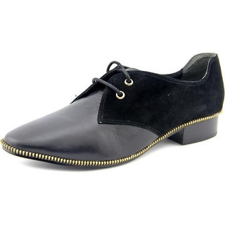 Adrianna Papell Paxton Women Round Toe Leather Black Oxford