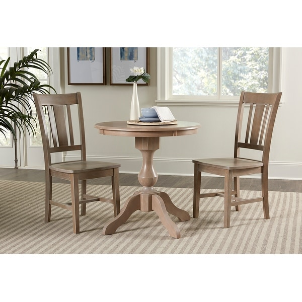 """30"""" Round Top Dining Table with 2 San Remo Chairs - 3 Piece Set. Opens flyout."""