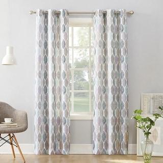 Link to No. 918 Hotaru Leaf Print Semi-Sheer Grommet Curtain Panel Similar Items in Window Treatments