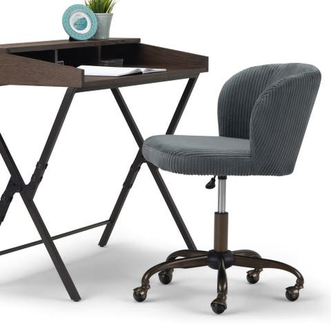 WYNDENHALL Higgins Swivel Adjustable Executive Computer Office Chair
