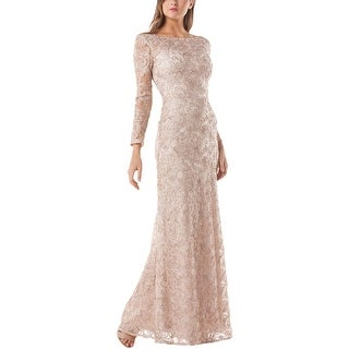 JS Collections Womens Evening Dress Lace Full-Length
