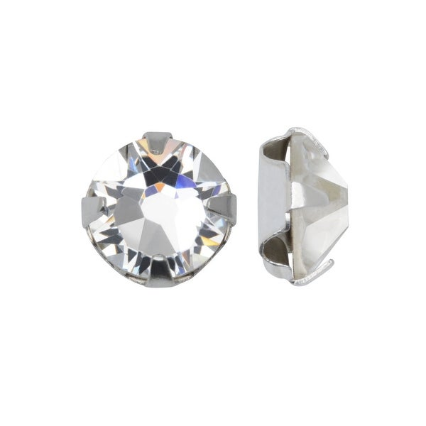 a6b7375eae Swarovski Crystal, 53100 Rose Montees SS12 3mm, 24 Pieces, Crystal / Silver  Plated