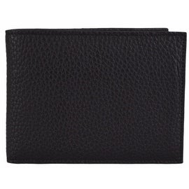 Bottega Veneta Men's Black Catalano Leather Bifold Wallet W/Coin Pocket
