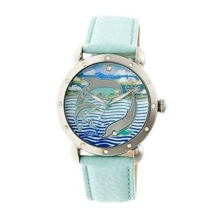 Bertha Estella Women's Quartz Watch, Genuine Leather Band, Luminous Hands