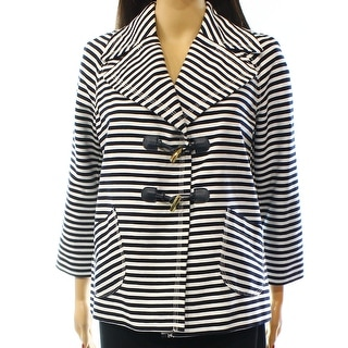 Tommy Hilfiger NEW Blue Women's Size Small S Striped Toggle Jacket
