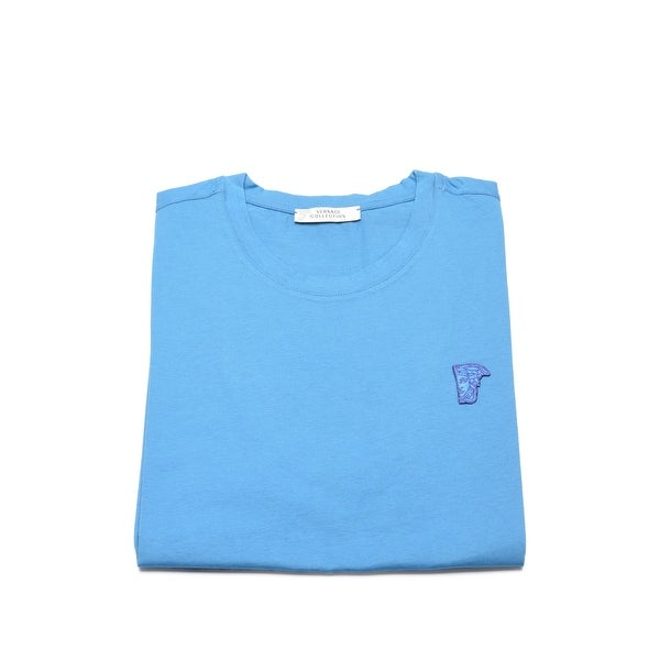 Versace Collection Men Medusa Head Logo T-Shirt Blue