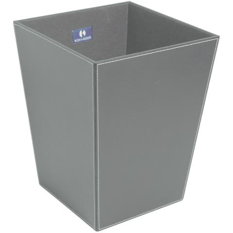 WS Bath Collections Ecopelle 2603 Ecopelle Leather Waste Basket