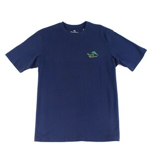 Tommy Bahama NEW Blue Mens Size Medium M Crewneck Graphic Tee T-Shirt