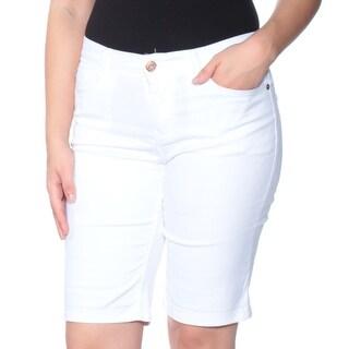 Womens White Bermuda Short Petites Size 4