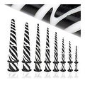 Tiger Print White Acrylic Tapers (Sold Individually) - Thumbnail 0
