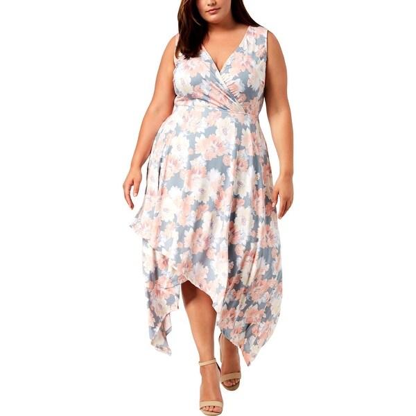 Love Squared Womens Plus Maxi Dress A-Line Floral - 3X