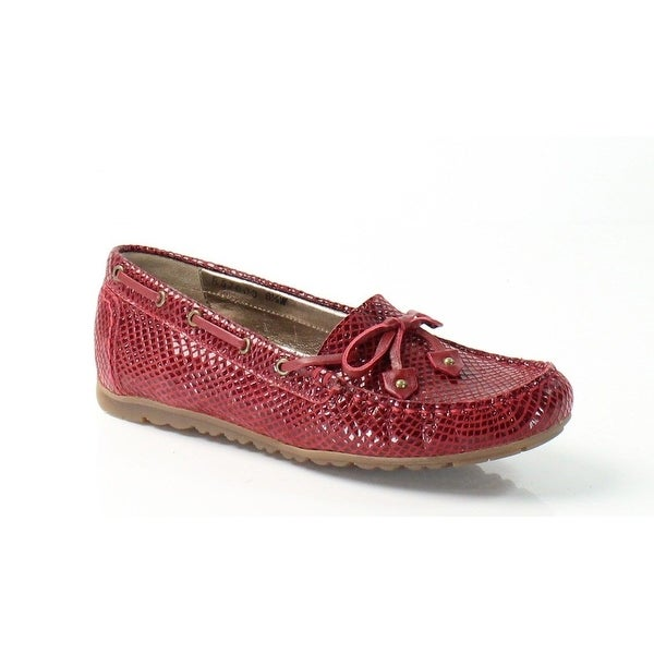 Rose Petals NEW Red Everett Shoes Size 6M Snake Moccasins Flats