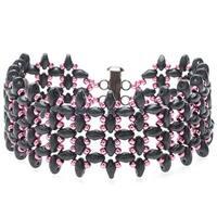 SuperDuo RAW Bracelet (Gray/Pink) - Exclusive Beadaholique Jewelry Kit
