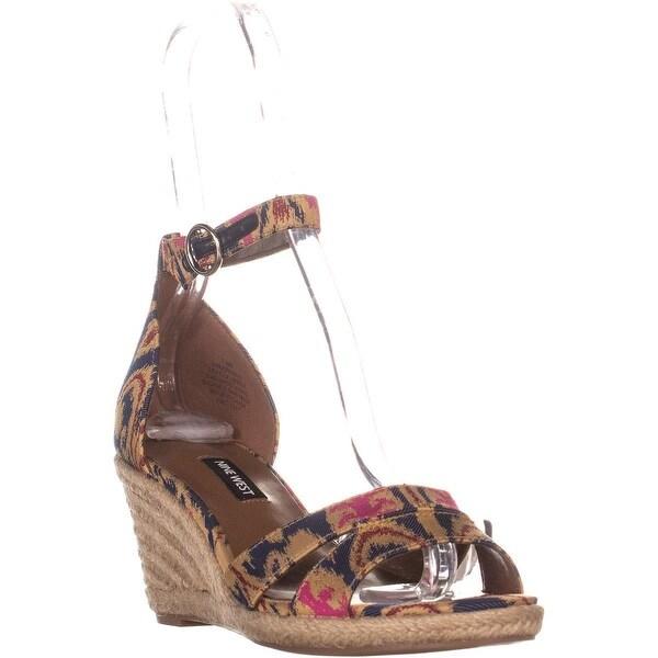 d7432e766ef Nine West Jeranna Wedge Heel Espadrilles Sandals, Blue Multi