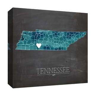 """PTM Images 9-126912  PTM Canvas Collection 12"""" x 12"""" - """"Tennessee"""" Giclee State Map Art Print on Canvas"""