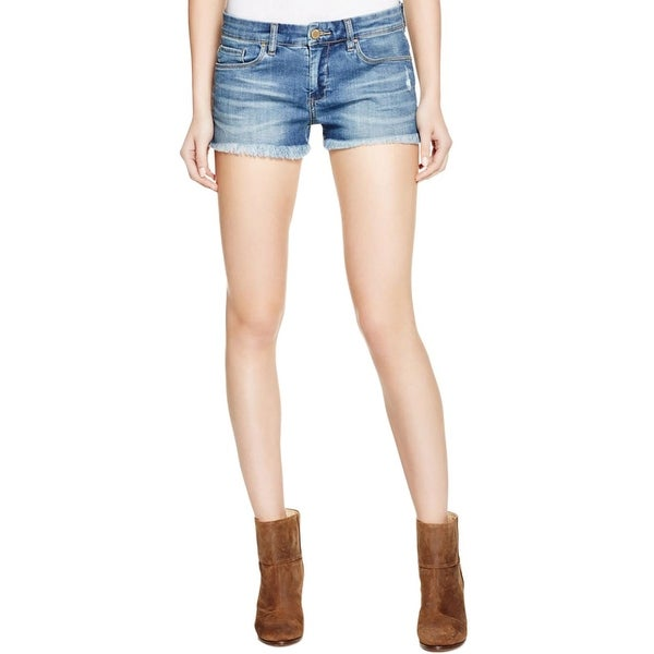c1d5510a9 Shop Blank NYC Womens Denim Shorts Raw Hem Stretch - Free Shipping On  Orders Over $45 - Overstock - 17879145
