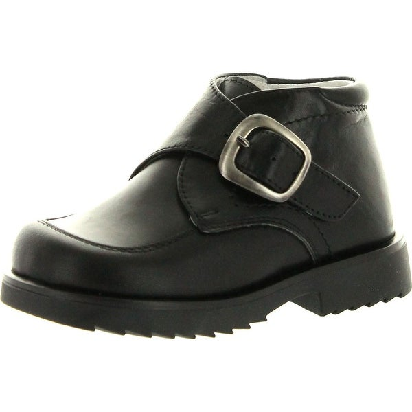Simone Boys Pc330 Made In Italy Casual Boots With Buckle - Black