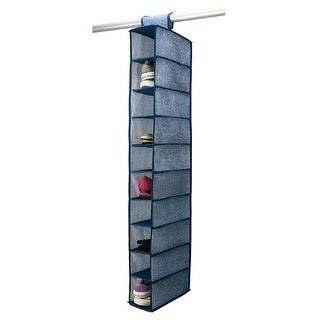 Simplify 10-Shelf Hanging Closet Organizer, Colors May Vary, 6x12x47 Inches