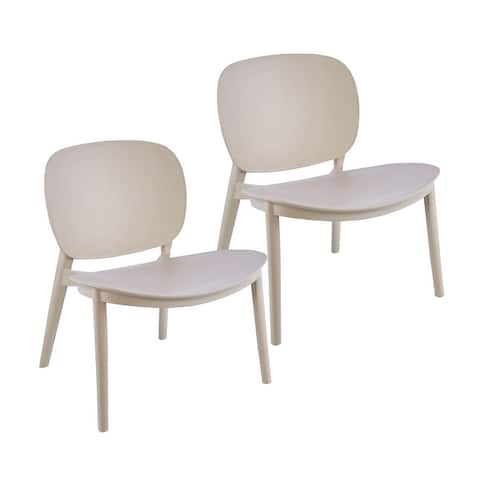 Porthos Home Dani Plastic Dining Chairs Set of 2, Indoors And Outdoors