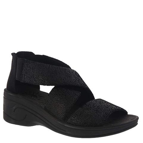 Easy Street Womens Sublime Fabric Round Toe Casual Platform Sandals