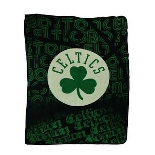 Boston Celtics Logo Micro Raschel Throw Blanket - Green