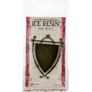 Ice Resin Rune Bezel Sheild-Antique Bronze