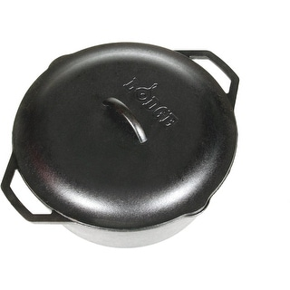 Lodge L10DOL3 Dutch Oven With Loop Handles And Iron Cover, 7 Quart